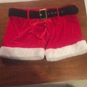 NWOT Santa brief shorts/boxers